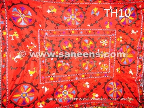 pure silk embroidered uzbek suzani costuming fabric