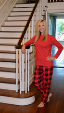 Adult Buffalo Check Pj SET-Wholesale
