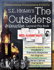 The Outsiders Novel Study Flip Book