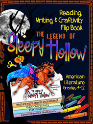 The Legend of Sleepy Hollow Novel Study Flip Book