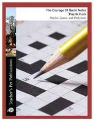 The Courage of Sarah Noble Puzzle Pack Worksheets, Activities, Games