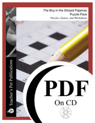 The Boy in the Striped Pajamas Puzzle Pack Worksheets, Activities, Games (PDF on CD)