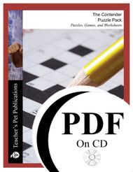 The Contender Puzzle Pack Worksheets, Activities, Games (PDF on CD)