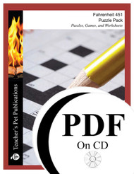 Fahrenheit 451 Puzzle Pack Worksheets, Activities, Games (PDF on CD)