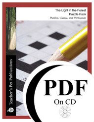 The Light in the Forest Puzzle Pack Worksheets, Activities, Games (PDF on CD)