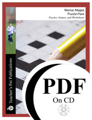 Maniac Magee Puzzle Pack Worksheets, Activities, Games (PDF on CD)