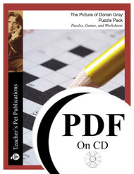 The Picture of Dorian Gray Puzzle Pack Worksheets, Activities, Games (PDF on CD)