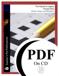 The Pigman's Legacy Puzzle Pack Worksheets, Activities, Games (PDF on CD)