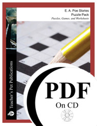 Poe Stories Puzzle Pack Worksheets, Activities, Games (PDF on CD)