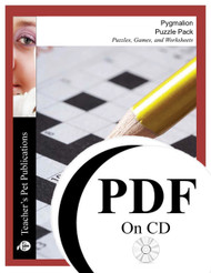 Pygmalion Puzzle Pack Worksheets, Activities, Games (PDF on CD)