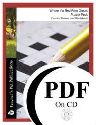 Where the Red Fern Grows Puzzle Pack Worksheets, Activities, Games (PDF on CD)