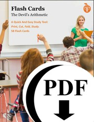 The Devil's Arithmetic Study Flash Cards