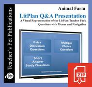 Animal Farm Study Questions on Presentation Slides | Q&A Presentation