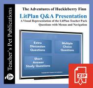 Huckleberry Finn Study Questions on Presentation Slides | Q&A Presentation