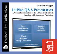 Maniac Magee Study Questions on Presentation Slides | Q&A Presentation