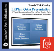 Travels With Charley Study Questions on Presentation Slides | Q&A Presentation
