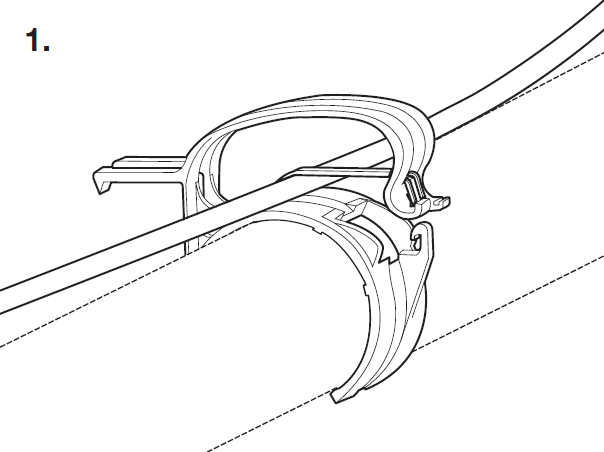 Light Plastic Truss Cable Clamp