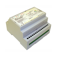 DIN Rail mount DMX to 16 channel analogue converter