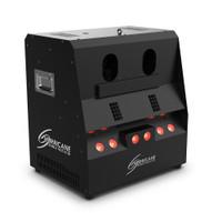 Chauvet DJ - Hurricane Bubble Haze X2 Q6 right side lights on