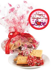 Valentine's Day Raspberry Sandwich Butter Cookies - Love