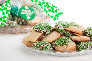 St Patrick's Day Butter Cookie Platter