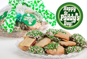 St Patrick's Day Raspberry Sandwich Butter Cookies
