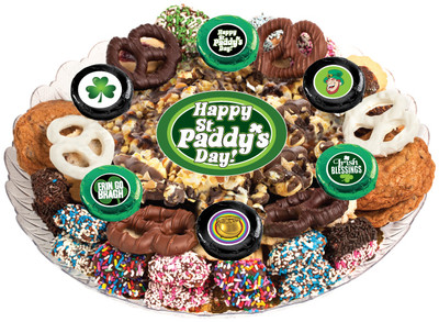 St Patrick's Day Caramel Popcorn & Cookie Platter