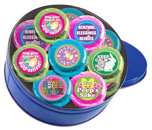 "Easter/ Spring ""Cookie Talk""  Chocolate Oreo Tin W/ Messages"