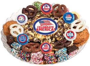 Celebrate America Popcorn & Cookie Assortment Platter
