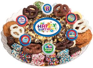 Birthday Caramel Popcorn & Cookie Platter