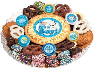 Baby Boy Cookie Pie & Cookie Assortment Platter