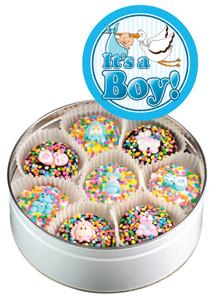 Baby Boy Decorated Oreo Tin