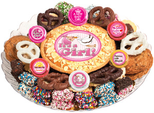 BABY GIRL COOKIE PIE & COOKIE ASSORTMENT PLATTER