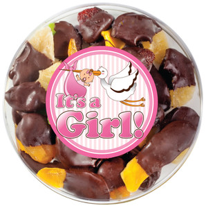 Baby Girl Chocolate Dipped Mixed Dried Fruit