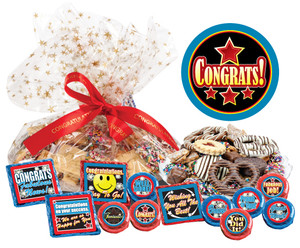 "CONGRATULATIONS ""COOKIE TALK "" MESSAGE PLATTERS"