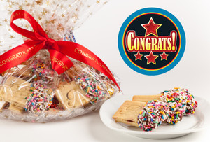 Congratulations Raspberry Filled Sandwich Butter Cookies