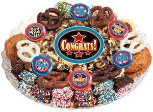 Congratulations Popcorn & Cookie Assortment Platter