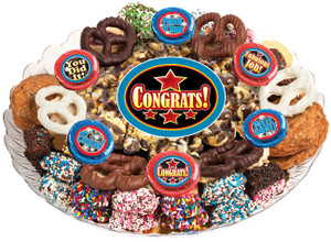Congratulations Popcorn & Cookie Platter