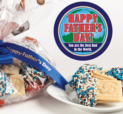 Father's Day Raspberry Sandwich Butter Cookies