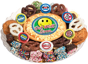 GET WELL  COOKIE PIE & COOKIE ASSORTMENT PLATTER