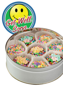 GET WELL DECORATED CHOCOLATE OREO TIN