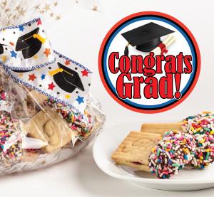 Graduation Raspberry Filled Sandwich Butter Cookies