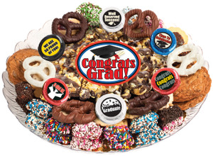 Graduation Caramel Popcorn & Cookie Platter