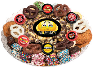 I'M SORRY! CARAMEL POPCORN & COOKIE ASSORTMENT PLATTER
