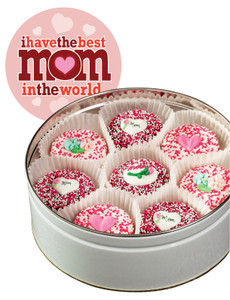 Mothers Day Decorated Chocolate Oreo Tin - Pink Label