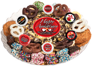 Anniversary Caramel Popcorn & Cookie Assortment Platter