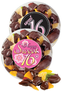Sweet 16 Chocolate Dipped Dried Mixed Fruit