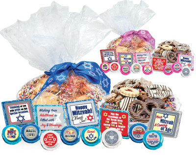 Bar Mitzvah Cookie Talk Message Platters