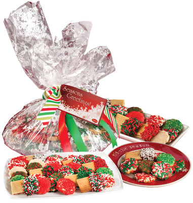 Christmas Butter Cookie Assortment - display