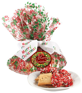 Christmas Raspberry Sandwich Butter Cookie Platter